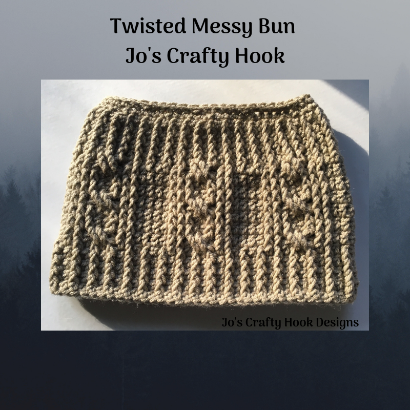 Twisted Messy Bun Hat Crochet Pattern