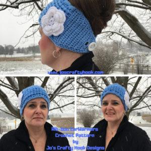 Ribbon Ear Warmers Free Crochet Pattern