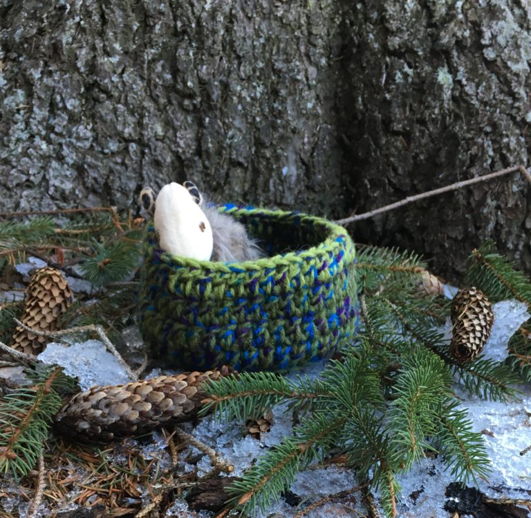 Save the Song Birds with Scrap Yarn