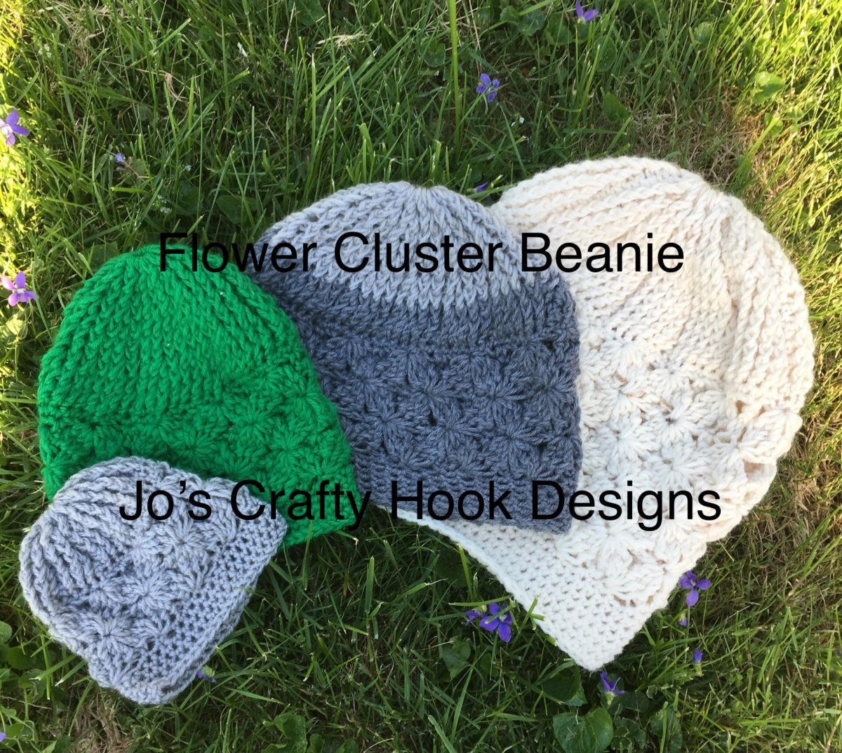 Lilac or Flower Cluster Beanie Free Crochet Pattern