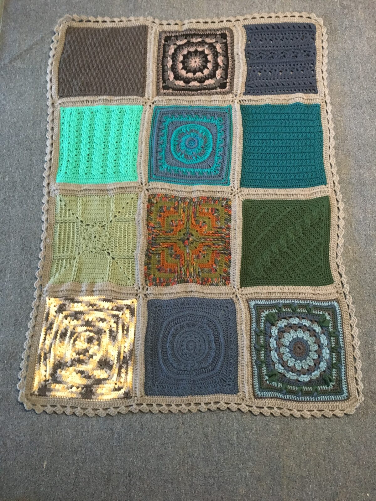 Joining Squares and Adding a Border for the Patchwork Mystery CAL Afghan