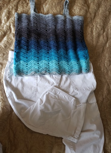 Ombre Waves Tank Top is a FREE Crochet Pattern