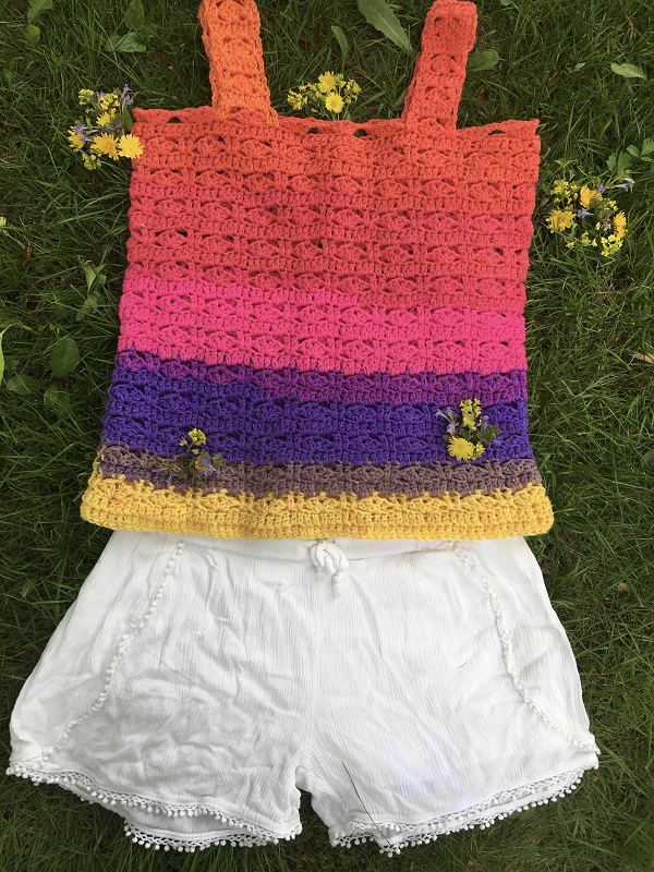 The Summer of Love Tank Top Crochet Pattern