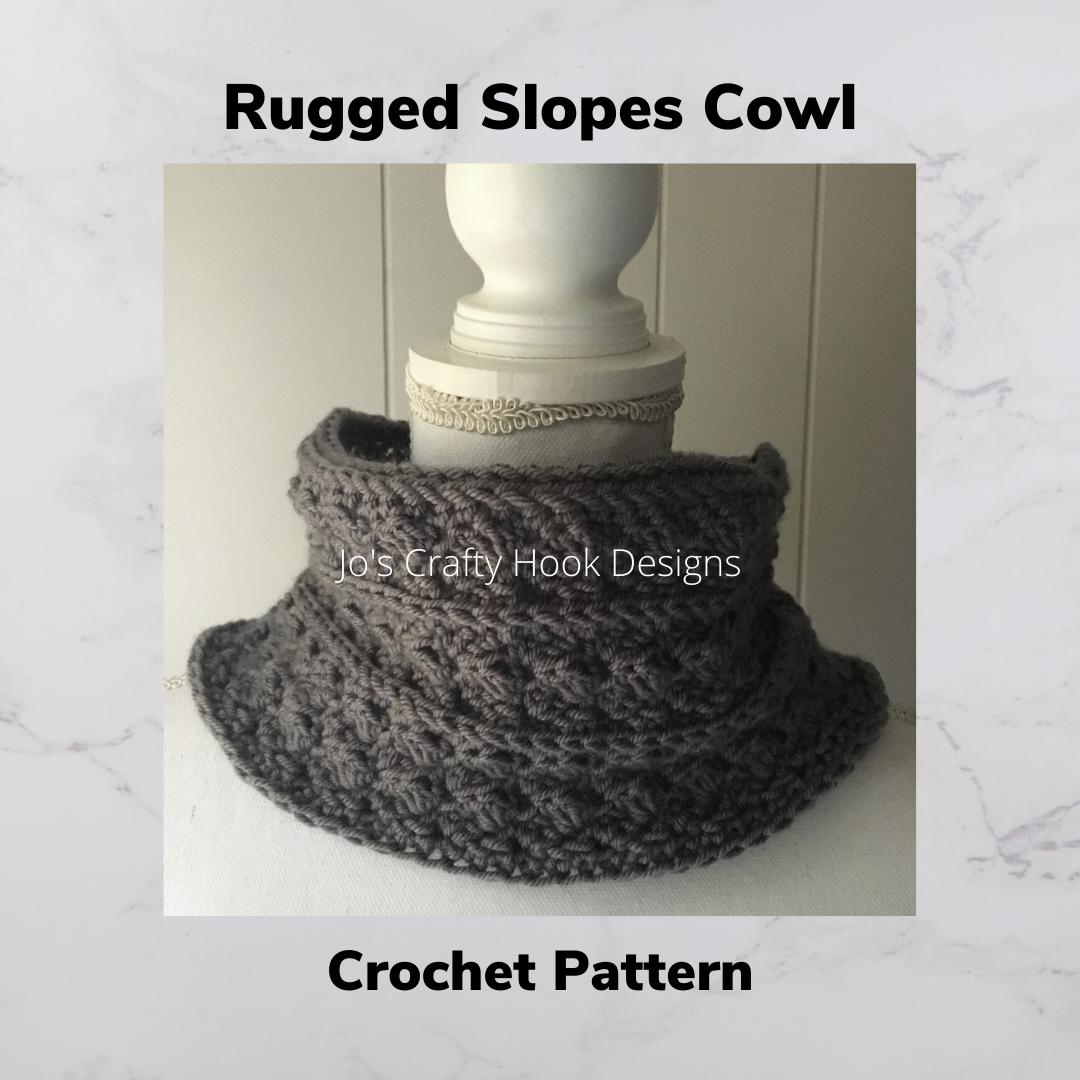 Rugged Slopes Cowl Crochet Pattern