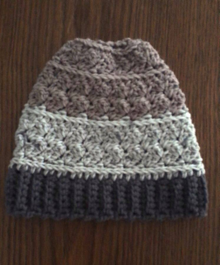 Rugged Slopes Beanie & Messy Bun Crochet Pattern