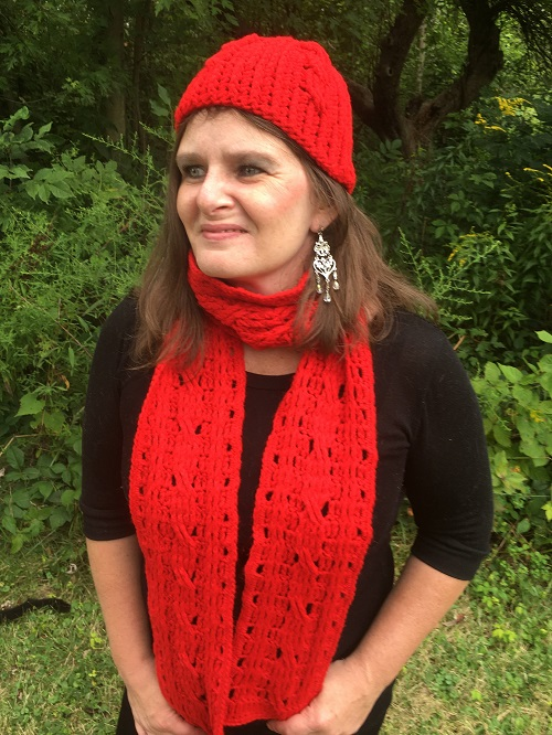 Twisted Twizzlers Beanie and Scarf Set