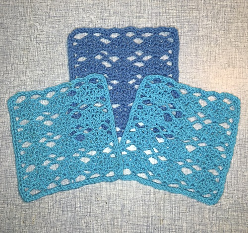 Diamonds Square Crochet Pattern