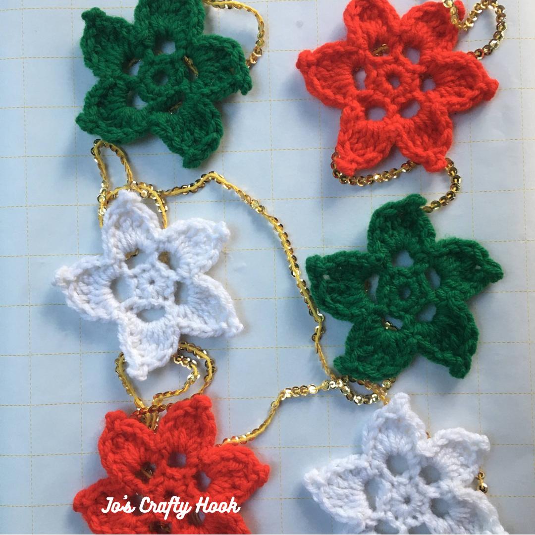 Christmas Star Ornaments Free Crochet Pattern